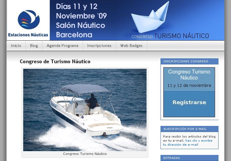 Congreso Turismo Náutico Salón Náutico Barcelona